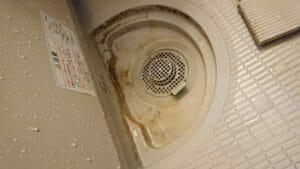 浴室排水口ー掃除前