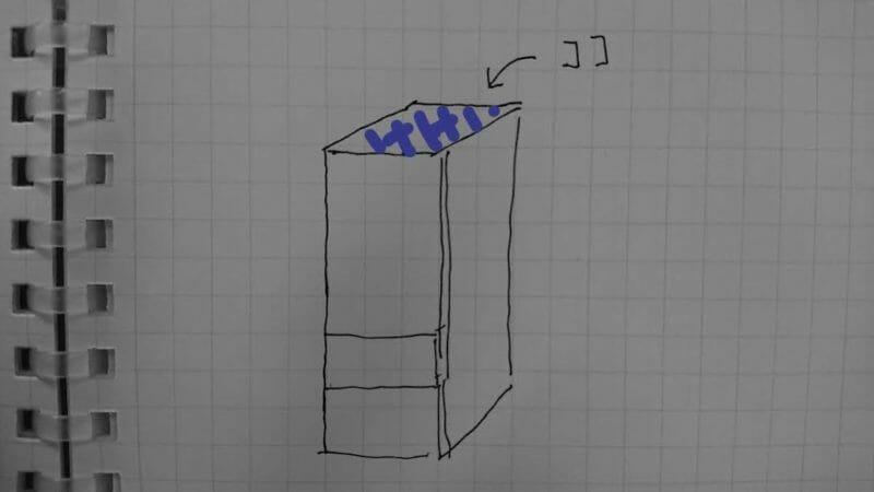 冷蔵庫の上のホコリ
