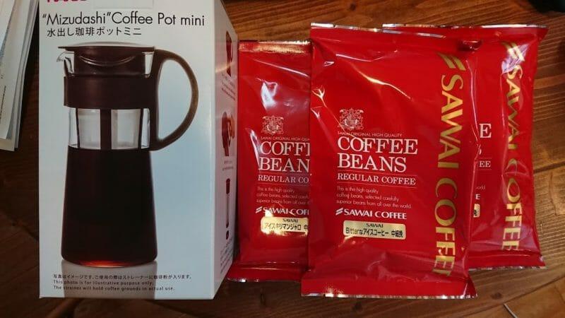 ハリオの水出しコーヒーポットのセット