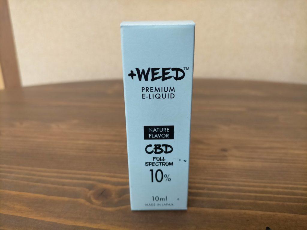 プラスウィード【+WEED】ネイチャーフレーバーCBDフルスぺクトラム10%E-リキッドを吸ってみました