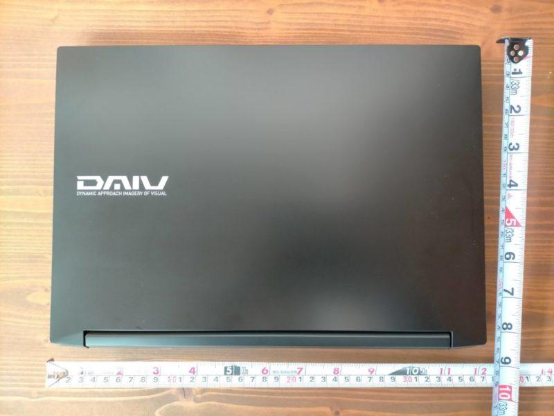DAIV 5D-R7のサイズ