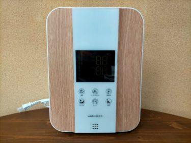 快適で健康的な湿度40~60%にするために新しくハイブリッド加湿器に変えました